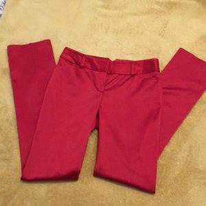 EXPRESS Editor Straight Leg RED Pants Size 0R